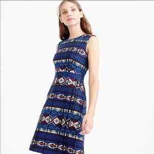 JCrew Textured windowpane Jacquard dress